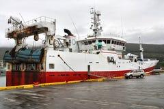 fiskeiceland ship Royaltyfri Fotografi
