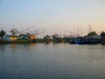 Fiskekojor Arkivbilder