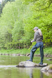 Fiskekvinna Fotografering för Bildbyråer