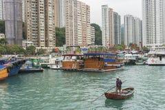 Fiskeläge Aberdeen i Hong Kong Royaltyfri Bild