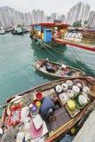 Fiskeläge av Hong Kong Arkivbilder