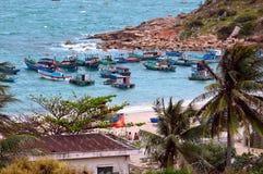 Fiskeläge i centrala Vietnam royaltyfria bilder
