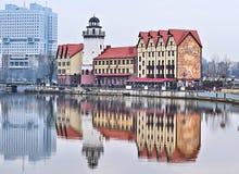 Fiskeläge i Kaliningrad Arkivbilder