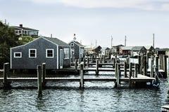 Fiskeläge i Massachusetts Royaltyfri Foto