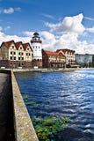 Fiskeläge. Kaliningrad (till Koenigsberg 1946), Ryssland arkivbilder