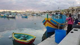Fiskeläge Malta Royaltyfria Foton