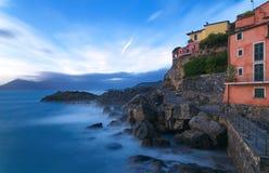Fiskeläge - Tellaro - Ligurian hav - Italien Arkivbilder