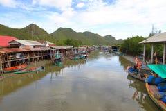 Fiskeläge Thailand Fotografering för Bildbyråer