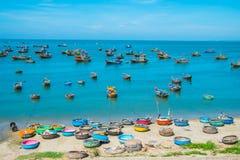 Fiskeläge Vietnam Royaltyfri Fotografi
