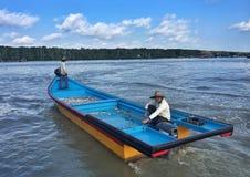 fiskeläget i kukup, lokaliseras det i den johor staten royaltyfri fotografi