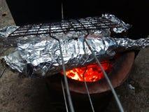 Fisken grillades Royaltyfria Foton