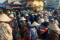 Fisken marknadsför av Hoi, Vietnam Royaltyfri Bild