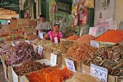 Fisken marknadsför bangkok Arkivfoto