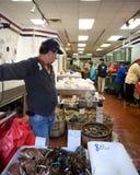 Fisken marknadsför Chinatown NYC Royaltyfri Foto