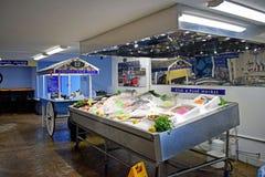 Fisken visade på fisk- och matståndet royaltyfria foton