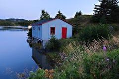 fiskenewfoundland hydda royaltyfri foto