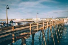 Fiskepir, i imperialistisk strand, Kalifornien Royaltyfri Bild