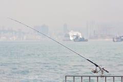 fiskepol Fotografering för Bildbyråer