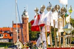 Fiskeport av Ustka, Polen Royaltyfri Fotografi