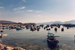 Fiskeport i Nha Trang Royaltyfri Bild