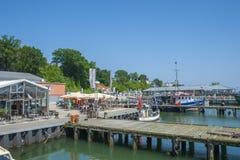 Fiskeport i Sassnitz Royaltyfri Bild