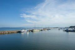 Fiskeport i Sassnitz på ön av RÃ-¼gen Royaltyfria Bilder