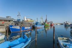 Fiskeport i Sassnitz på ön av RÃ-¼gen Royaltyfri Fotografi