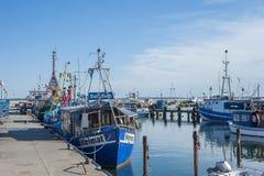 Fiskeport i Sassnitz på ön av RÃ-¼gen Royaltyfri Foto