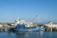 Fiskeport i Sassnitz på ön av RÃ-¼gen Arkivbilder
