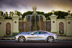 Fisker at Fountain Stock Image
