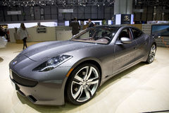 Fisker Karma Plug-in Hybrid Stock Photo