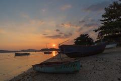 Fiskerigemenskap i Thailand Arkivbild