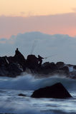 fiskerocksoluppgång Arkivbilder