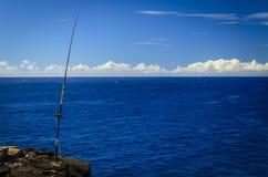 Fiskesöder pekar parkerar Arkivbild