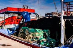 Fiskeskyttel på fiskarefjärden av Yalova Turkiet Royaltyfri Bild