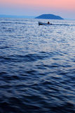 fiskesolnedgång Royaltyfria Foton
