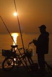 fiskesoluppgång royaltyfri foto