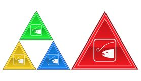 Fiskesymbol, tecken, illustration Arkivbild