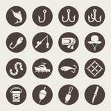 Fiskesymboler stock illustrationer