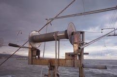 Fisketid på aftonen Arkivfoton