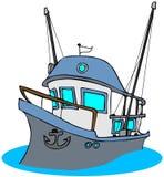 fisketrawler vektor illustrationer