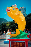 Fiskförmögenhetstaty Royaltyfri Fotografi