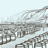 Fiskfabrik Arkivbilder