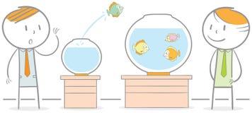 Fiskflyttning royaltyfri illustrationer