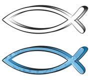 fiskgrafitti Royaltyfri Bild
