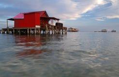 fiskhus little som är röd Royaltyfria Foton