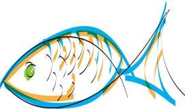 fiskillustration Fotografering för Bildbyråer