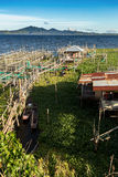 Fisklantgård på sjön Tondano Royaltyfri Fotografi