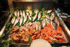 Fiskmarknad i Ä°stanbul Beyoglu royaltyfria bilder