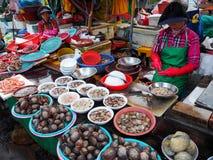 Fiskmarknad i Busan Arkivbild